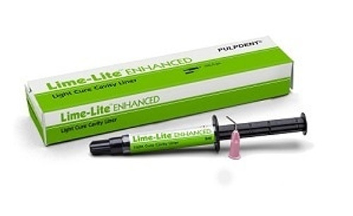 Lime-Lite - Light Cure Cavity Liner - 3mL/5Gm Syr +20 Tps