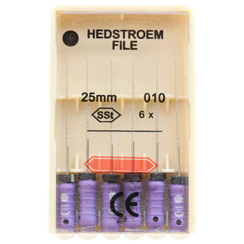 25mm #10 Stainless Steel Hed-Files, Hand Use With Stop 6/Pk