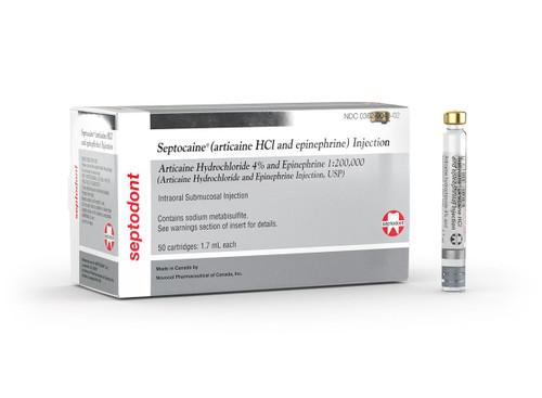 Septocaine Articaine Hci & Epinephrine1:200,000 (Silver Box)