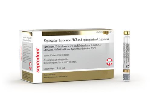 Septocaine Articaine Hci & Epinephrine 1:100,000 (Gold Box)