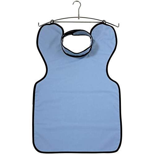 Deluxe Lead Free Apron Blue Microfiber W/ Collar Adult