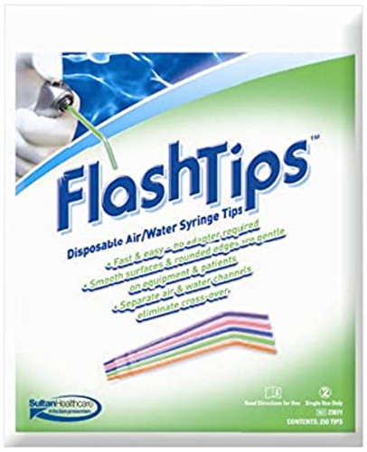 Flashtips Disposable Air/Water Syringe Tips 250 Count