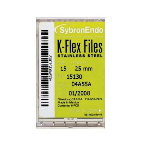 Kerr/Sybron K-Flex Files 25mm Asst 45-80  Pk6