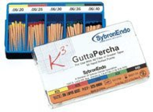 K3 Gutta Percha .06/.20 Thru .40 Assorted 50Pk