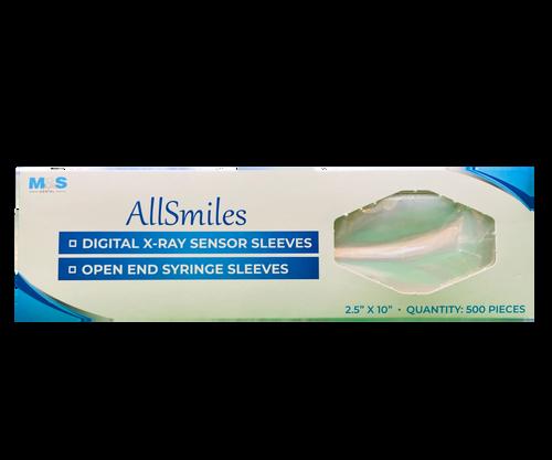 "AllSmiles A/W Syringe Sleeve 10 x 2.5"" 500/Bx"