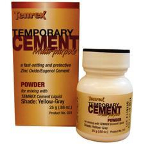 Temrex Cement - Powder 25G - Yellow-Gray