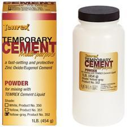 Temrex Cement - Powder 1Lb - Yellow-Gray