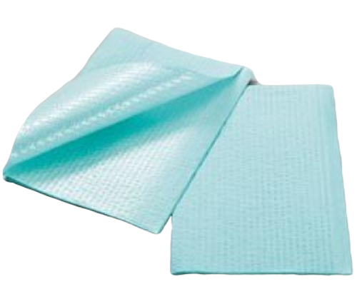 Tidi Patient Towel Green Ribbed Embossed 13X18 Cse/500