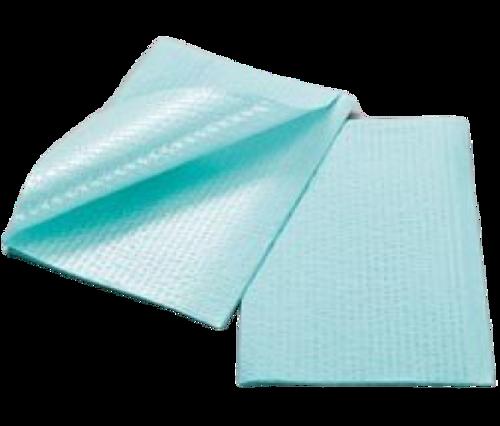 Tidi Patient Towel Green Ribbed Embossed 13X18 Cse/500