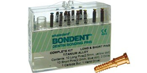 Bondent Dentin Bonding Pins Bulk Kit Short Pins (Titanium) 5