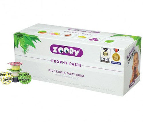 Denticator Zooby Prophy Paste Chocolate Chow Medium Pk100