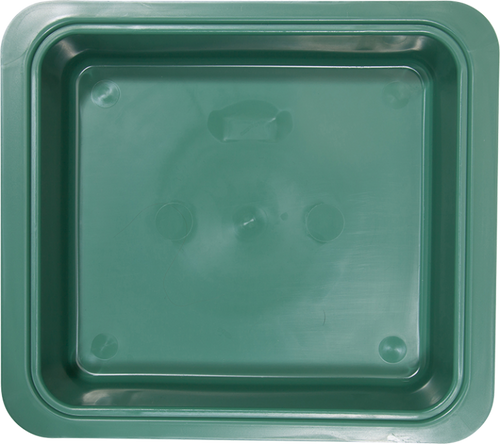 "Zirc Procedure Tub 12-1/4"" X 10-7/8"" X 2-3/4"" Green Color"