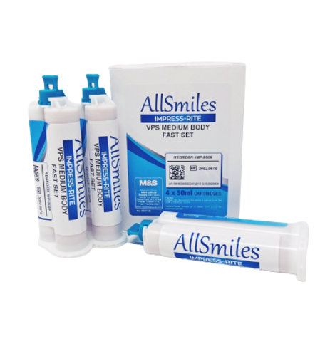 AllSmiles VPS Material Medium Body Fast Set 4x50mL