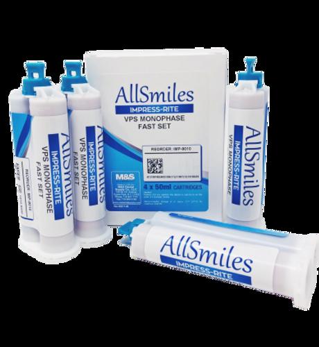 AllSmiles VPS Material Monophase Fast Set 4x50mL