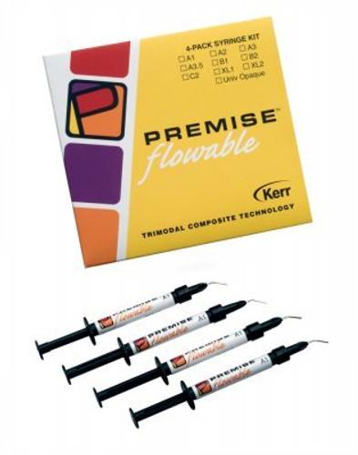 Kerr Premise Flowable Composite 4Pk Syringe Refill Univ Opaq