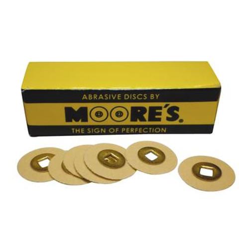 Moore Garnet Disc Paper Brass Center 1/2 in Extra Fine 50/Bx