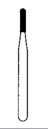 Simple Prep Carbide FG 50/Pk 1557 Round End Cross Cut Fiss -