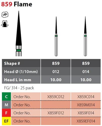 Alpen X1 Pointed Cone Finishing 25Pk, Extra Finex859Ef014