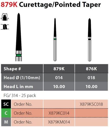Alpen X1 Pointed Taper 25Pk, Coarse X879Kc014