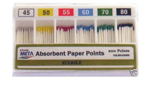 M&S Absorbent Points #45-80 Assorted Cc 200/Bx
