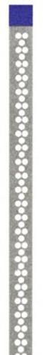 Axis Perforated Diamond Strips 2.5mm Medium 10Pk