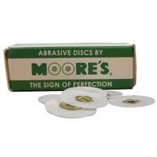 "Mooreplastic Brass Center 3/4"" X-Fine Sand Disks"