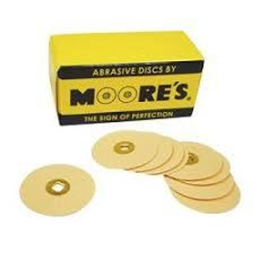 """Moore Disc Brass Center 7/8"""" Emery Med 50Pk"""