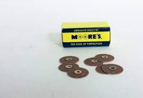 "Moore Disc Brass Center 7/8"" Garnet Med 50Pk"