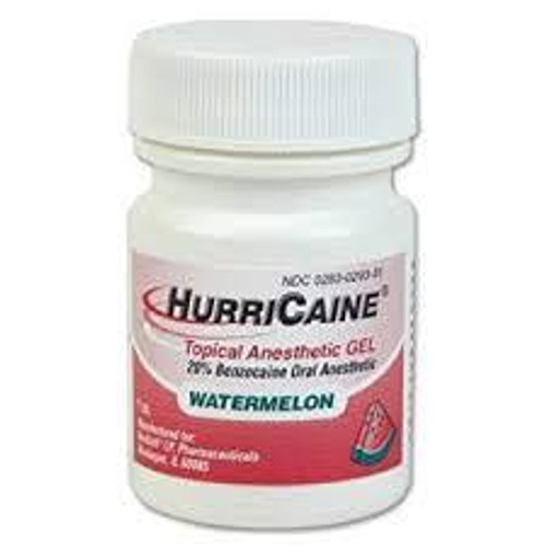 Hurricaine Topical Gel 1Oz Wild Cherry