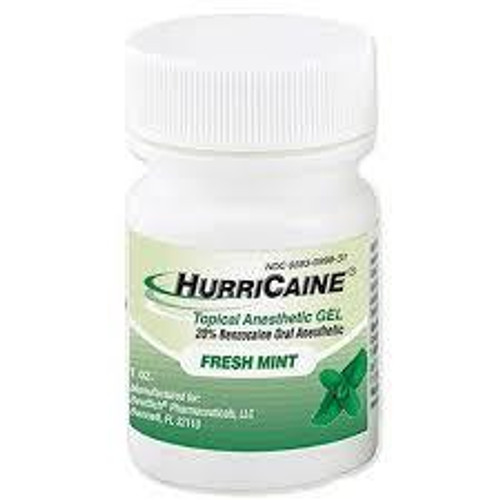 Hurricaine Topical Gel 1Oz Fresh Mint