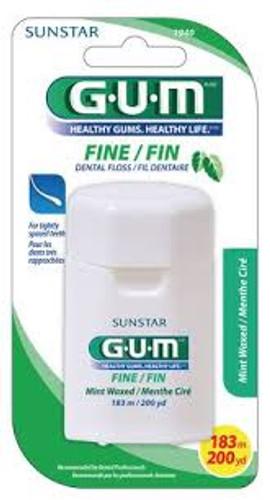 Butler-Gum Floss Fine Mint Waxed 12Yd 144Pk