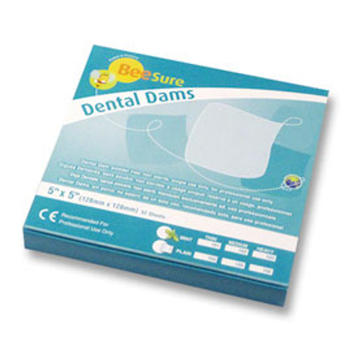 BEESURE  RUBBER DAM 5X5 MED  52 /BOX