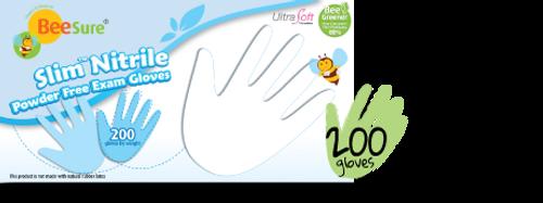 Cranberry Slim Nitrile Exam Gloves - Medium