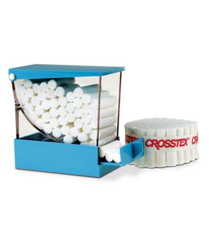 Cotton Roll Dispenser - Blue W/Pull Out Drwr