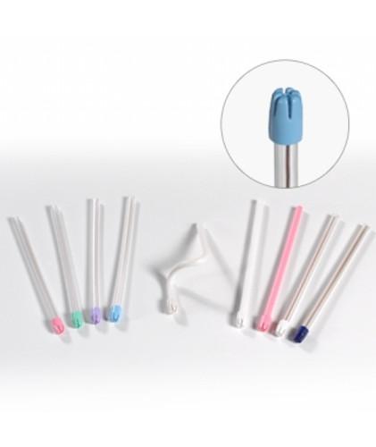 Saliva Ejectors - Premium - Clear/Blue