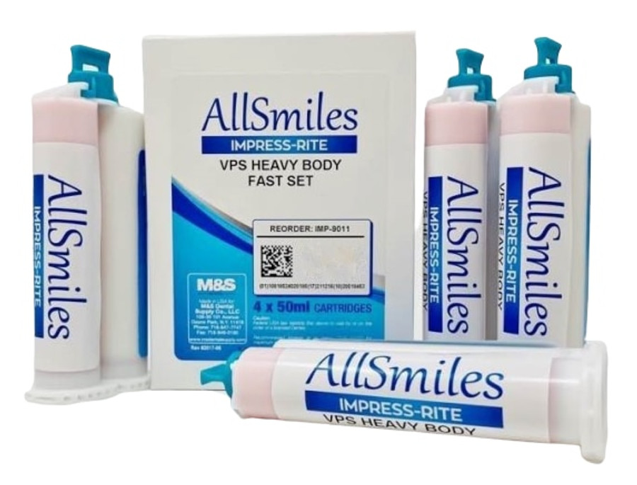 AllSmiles VPS Material Heavy Body Fast Set 4X50mL