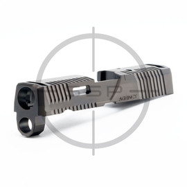 """Agency Arms P320 3.9"""" Compact/XCarry Peacekeeper Slide Black DLC"""