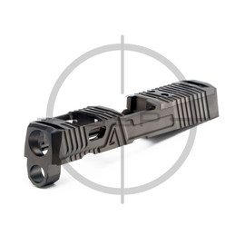 """Agency Arms P320 3.9"""" Compact/XCarry EXA Slide Black DLC"""