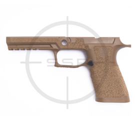 Agency Arms Sig P320 XFull Stippled Grip Module, Coral, Medium, Coyote