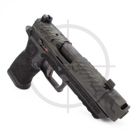 """Agency Arms P320 XFull Syndicate S1 w/ 419S Comp, 3.9"""" Mid Line Threaded DLC Barrel, Black Multicam"""