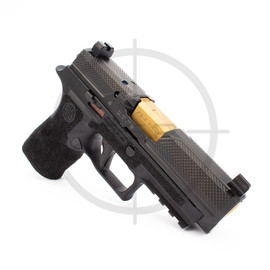 """Agency Arms P320 XCompact Syndicate S2, 3.9"""" TiN Mid Line Barrel, DLC Finish"""