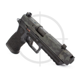 """Agency Arms P320 XFull Syndicate S2 w/ 419S Comp, 3.9"""" Mid Line Threaded DLC Barrel, Black Multicam"""