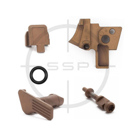 Sig Sauer P320 Coyote Parts Kit, Sear Housing, Slide Cap, Takedown Lever, Extractor Spring Pin