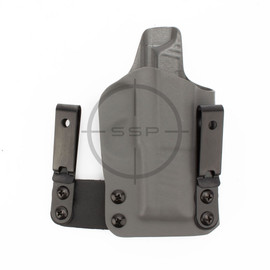 """BlackPoint Tactical RH FO3 Holster, Sig P365/P365X, Grey, 1.75"""" Metal IWB"""