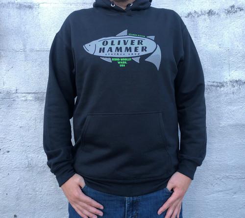 OH Salmon Slayer Hoodie - Black