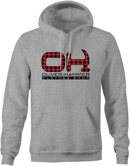 Plaid OH Hoodie - Sport Grey