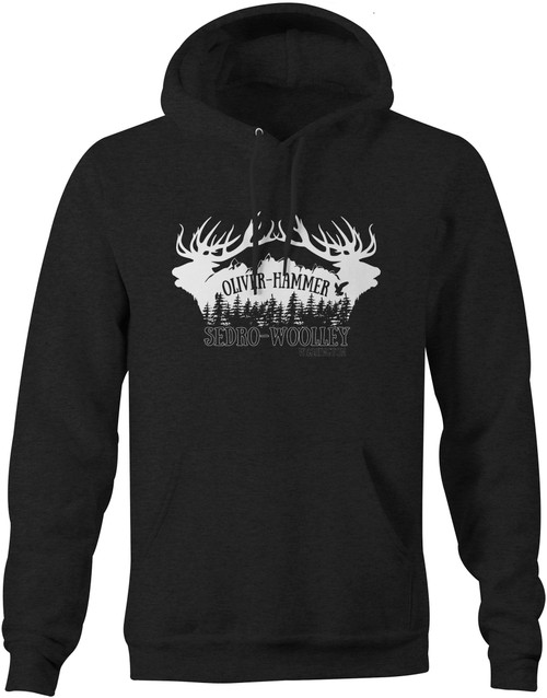 Sedro-Woolley Elk Hoodie - Dark Heather Grey