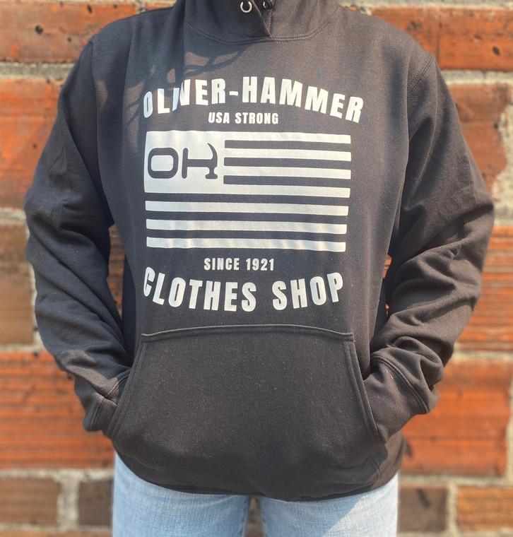 O-H USA Strong Hoodie-Black