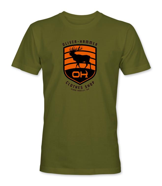 Elk T-Shirt - Military Green