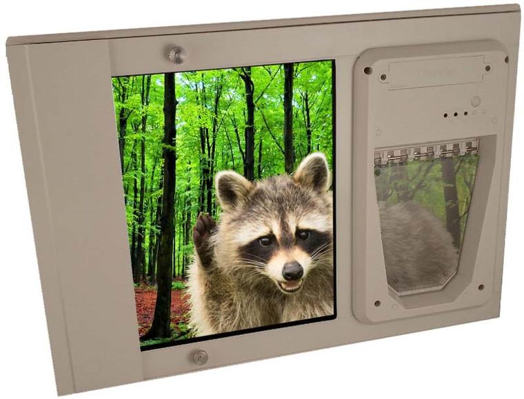 Petsafe Electronic Single Pane Sash Lockable Window Insert